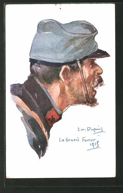 Künstler-AK Em. Dupuis: Französischer Soldat in Uniform