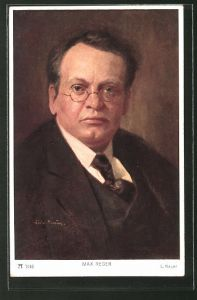 Künstler-AK Portrait des Komponisten Max Reger
