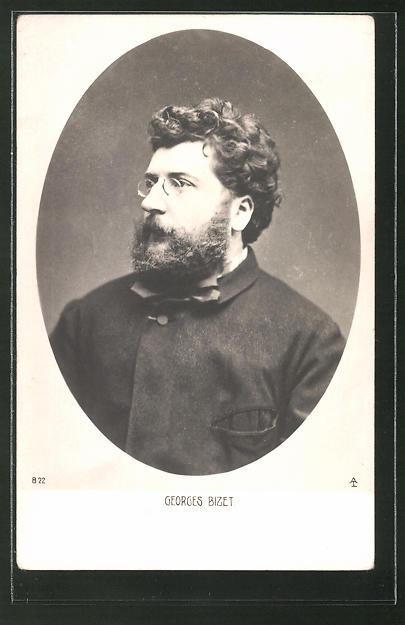 AK Portrait des Komponisten Georges Bizet