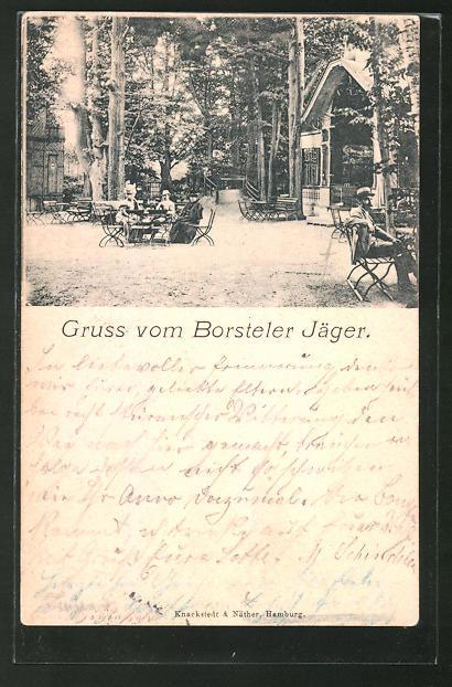 AK Hamburg-Gross-Borstel, Gasthaus zum Borsteler Jäger