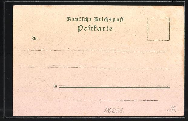Lithographie Querfurt, Strasse nach Thaldorf, Schlossthor und dicker Heinrich 1