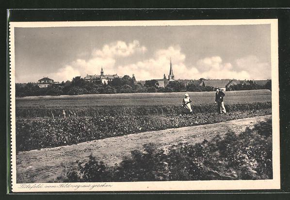 AK Lülsfeld, Panorama mit Kloster Maria Schnee, Haushaltungsschule