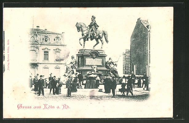 AK Köln-Neustadt, Reiterstandbild Kaiser-Wilhelm-Denkmal am Kaiser-Wilhelm-Ring