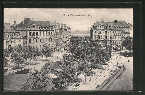 AK Köln-Neustadt, Kaiser-Wilhelm-Ring aus der Vogelschau 0