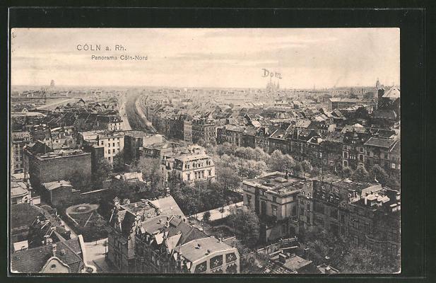 AK Köln-Neustadt, Panorama aus der Vogelschau 0