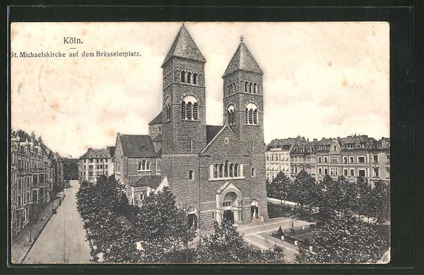 AK Köln-Neustadt, St. Michaelskirche auf dem Brüsselerplatz 0