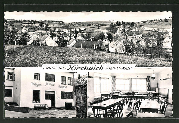 AK Kirchaich, Panorama & Gasthaus mit Metzgerei Neundörfer 0