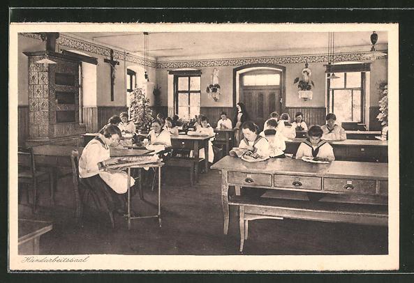AK Lülsfeld, Kloster Maria Schnee, Haushaltungsschule mit Handarbeitssaal 0