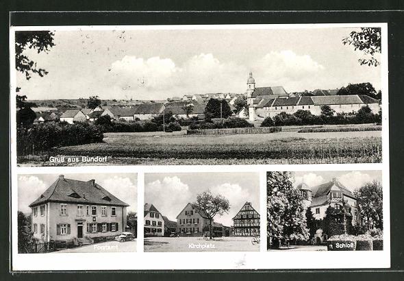 AK Bundorf, Gesamtansicht, Forstamt, Kirchplatz & Schloss 0