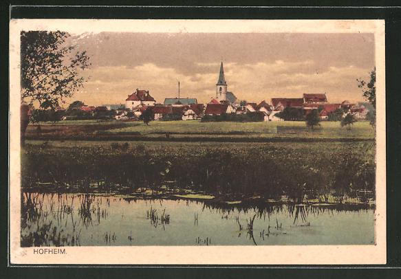 AK Hofheim, Panorama bei Dämmerung 0