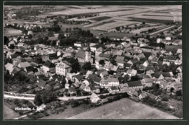 AK Hofheim, Panorama vom Flugzeug aus 0