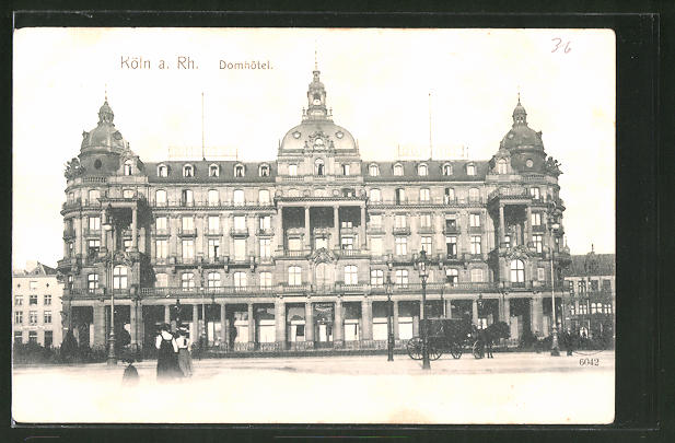 AK Köln, Blick zum Domhotel