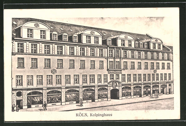 AK Köln, Partie am Kolpinghaus, Breitestrasse 108