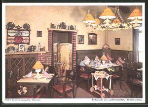 AK Weimar, Teilansicht der sehenswerten Bauernstuben im Hotel Kaiserin Augusta