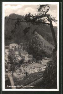 AK Ludwigsstadt, Blick auf die Brauereigaststätte Falkenstein-Bayern