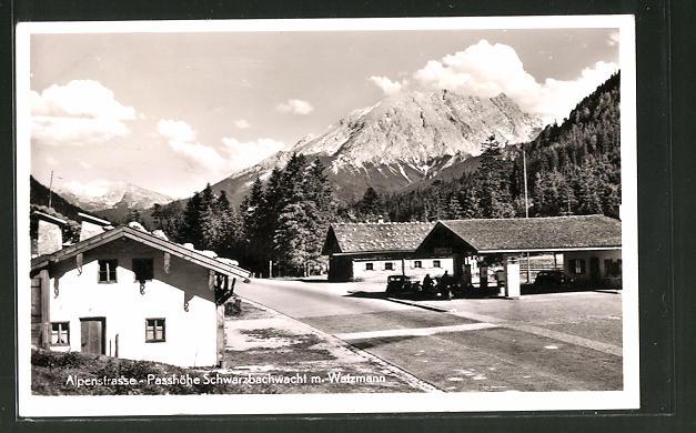 AK Ramsau, Alpenstrasse, Tankstelle Passhöhe Schwarzbachwacht