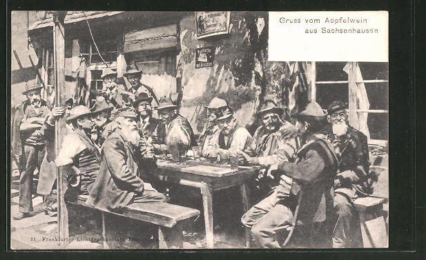 AK Frankfurt-Sachsenhausen, Gruss aus der Apfelwein-Schenke 0
