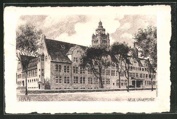 Künstler-AK Carl Jander: Jena, Neue Universität