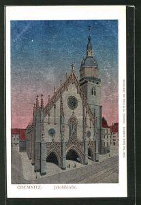 Luna-AK Chemnitz, Motiv der Jakobikirche