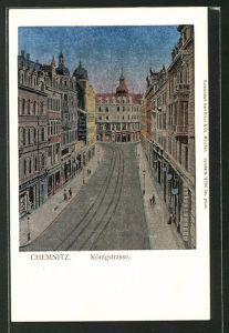 Luna-AK Chemnitz, Blick in die Königstrasse