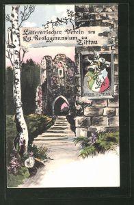 Künstler-AK Zittau, Literarischer Verein am Kgl. Realgymnasium, Absolvia