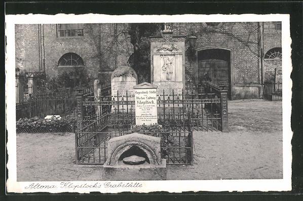 AK Hamburg-Altona, Klopstock's Grabstätte