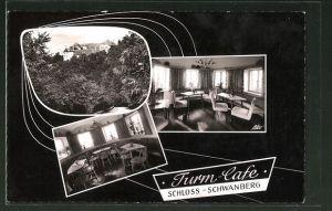AK Rödelsee, Turm-Café im Schloss Schwanberg
