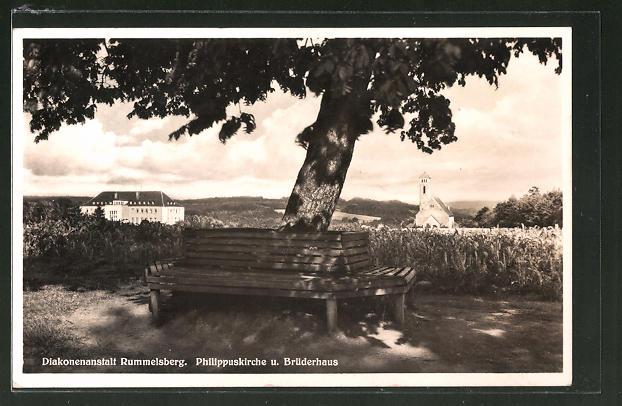AK Rummelsberg, Diakonenanstalt Rummelsberg, Philippuskirche und Brüderhaus