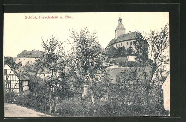 AK Hirschstein an der Elbe, Schloss Hirschstein