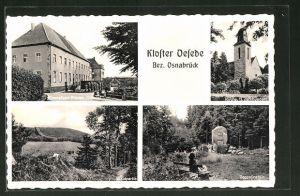 AK Georgsmarienhütte, Kloster Oesede, Zeppelinstein und Kirche