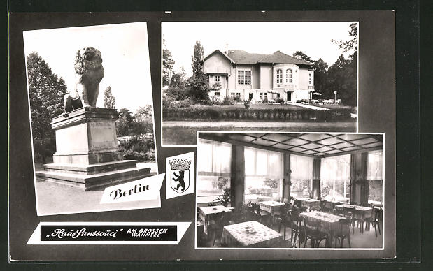 """AK Berlin Wannsee Restaurant und Café """"Haus Sanssouci"""