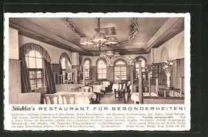 AK Berlin-Charlottenburg, Stöckler's Restaurant, Kurfürstendamm 228-29