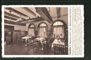 AK Berlin-Charlottenburg, Stöckler's Restaurant, Kurfürstendamm 228-29, Innenansicht