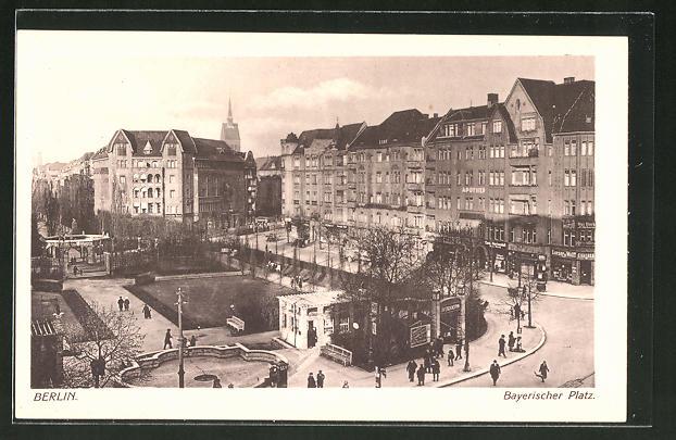 AK Berlin-Schöneberg, Ortspartie am Bayerischen Platz