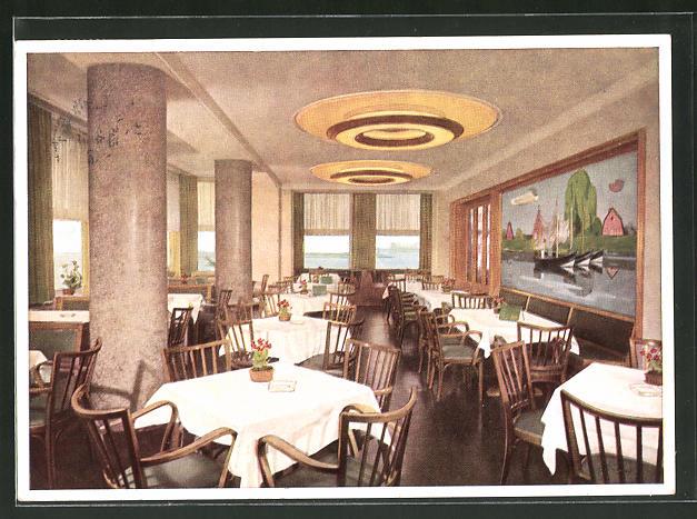 Ak Hamburg Altona Fischerreihafen Restaurant Grosse Elbstrasse 143