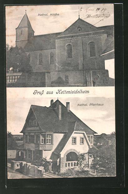 AK Hettenleidelheim, Kathol. Kirche, Kathol. Pfarrhaus