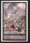 Künstler-AK Ernst Kutzer: Im Zeichen der Religion, Tilly in Magdeburg 1631
