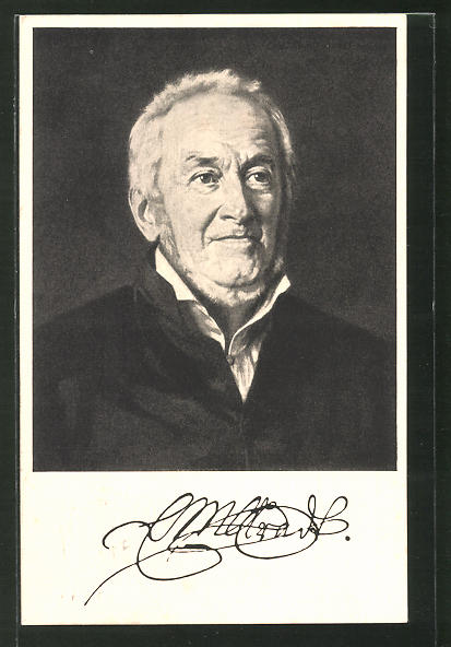 Künstler-AK Ernst Moritz Arndt, Portrait des Autors