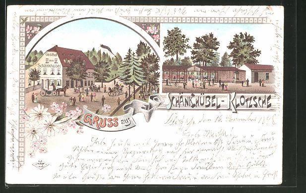 Lithographie Dresden Klotzsche Partie Am Gasthof Schänkhübel Nr