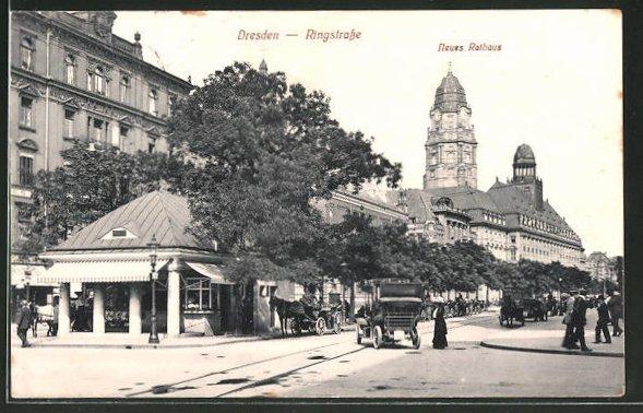 AK Dresden, Ringstrasse, Neues Rathaus