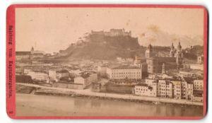 Fotografie Würthle & Spinnhirn, Salzburg, Ansicht Salzburg, Blick vom Kapuzinergarten