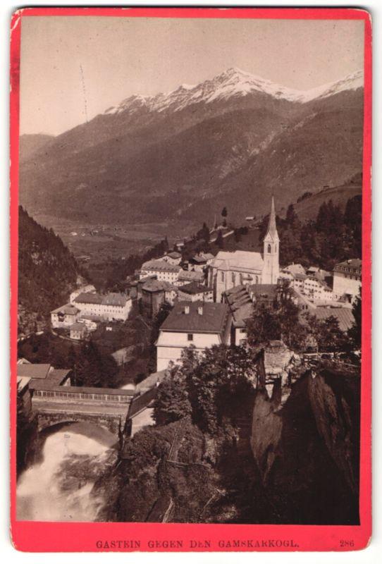 Fotografie Würthle & Spinnhirn, Salzburg, Ansicht Gastein, Blick gegen den Gamskogel
