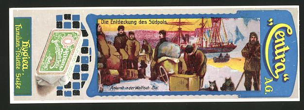 Lesezeichen Centra AG, Hygiea Toilette-Seife, Südpol-Expedition, Ankunft Walfisch-Bai