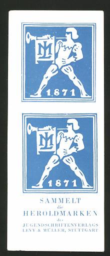 Lesezeichen Stuttgart, Jugendschriftenverlag Levy & Müller, Sammelt die Heroldmarken