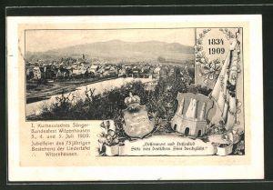 AK Witzenhausen, I. Kurhessisches Sängerbundesfest 1909, Ortspanorama