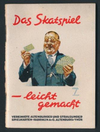 Künstler-Spielregel-Heft Ludwig Hohlwein: Das Skatspiel - leicht gemacht, Regelkunde auf 40 Seiten von ASS-Spielkarten