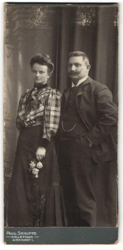 Fotografie Paul Schuppe, Halle a/Saale, Portrait gutbürgerliches Paar