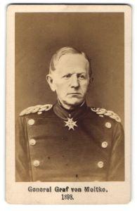 Fotografie unbekannter Fotograf und Ort, General Graf von Moltke