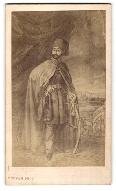 Fotografie P. Sebah, Constantinople / Istanbul, Portrait Mahmud II., türkischer Sultan