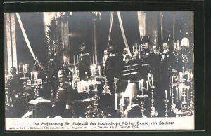 AK Dresden, Aufbahrung des Königs Georg von Sachsen 1904